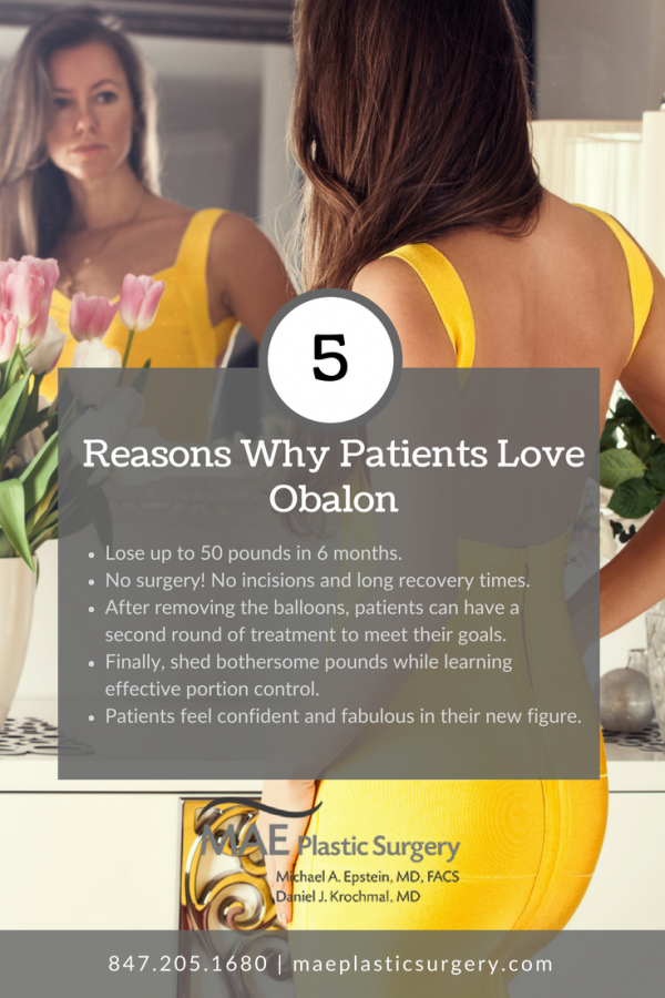 Obalon Chicago Il Weight Loss Balloon Mae Plastic Surgery