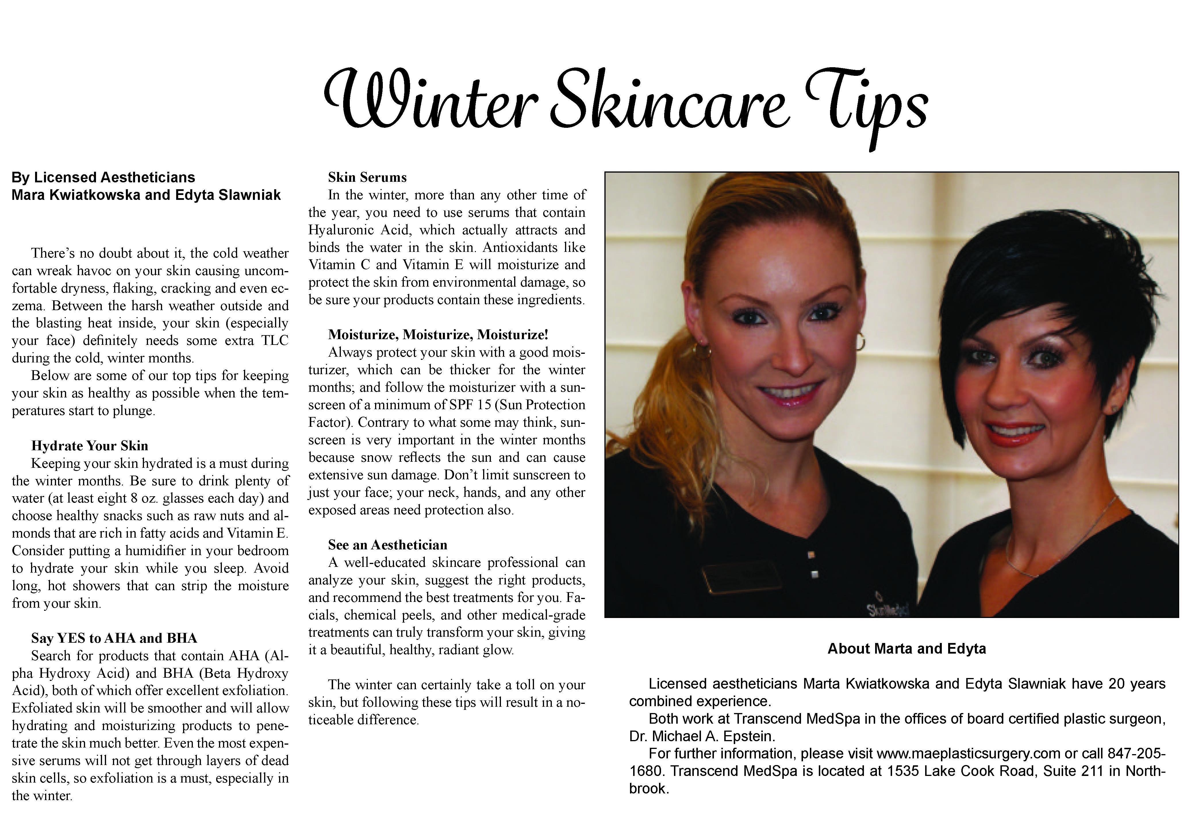 Med Spa Chicago Winter Skincare Tips